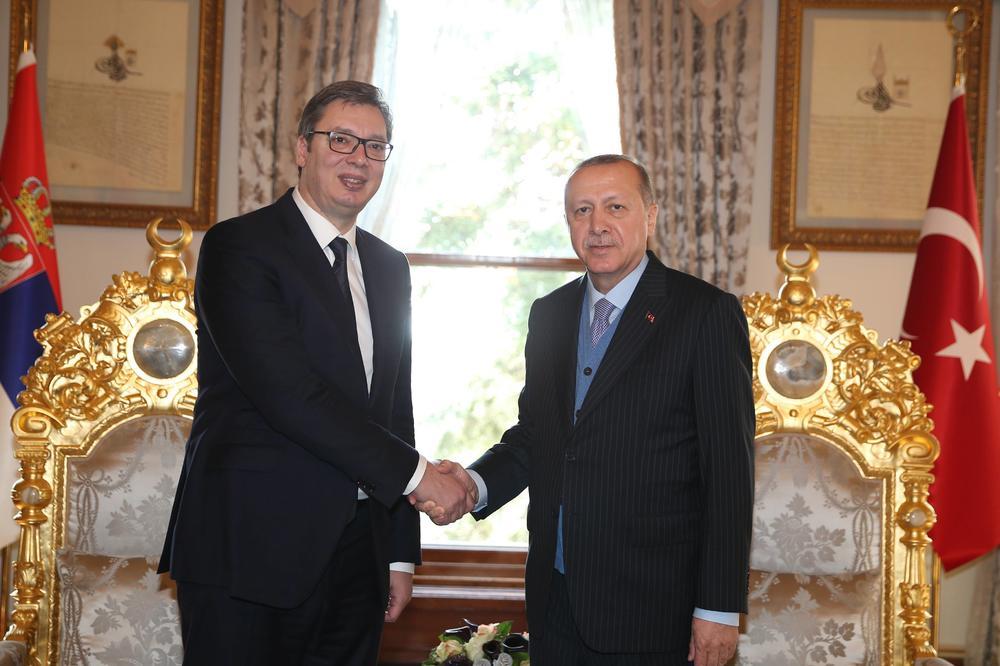 Vučić u poseti Turskoj, danas radni ručak sa Erdoganom