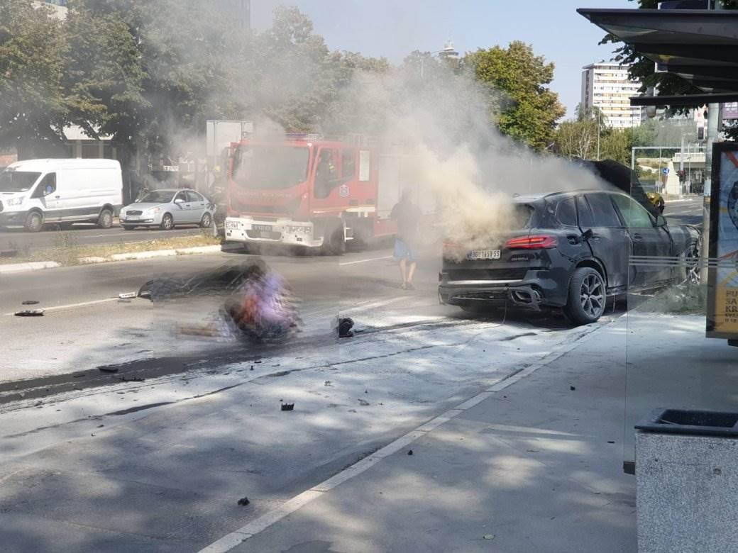 Eksplozija automobila u Beogradu