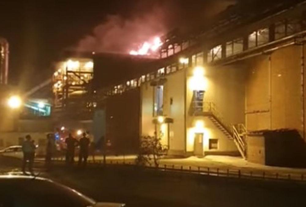 Veliki požar u borskoj topionici bakra