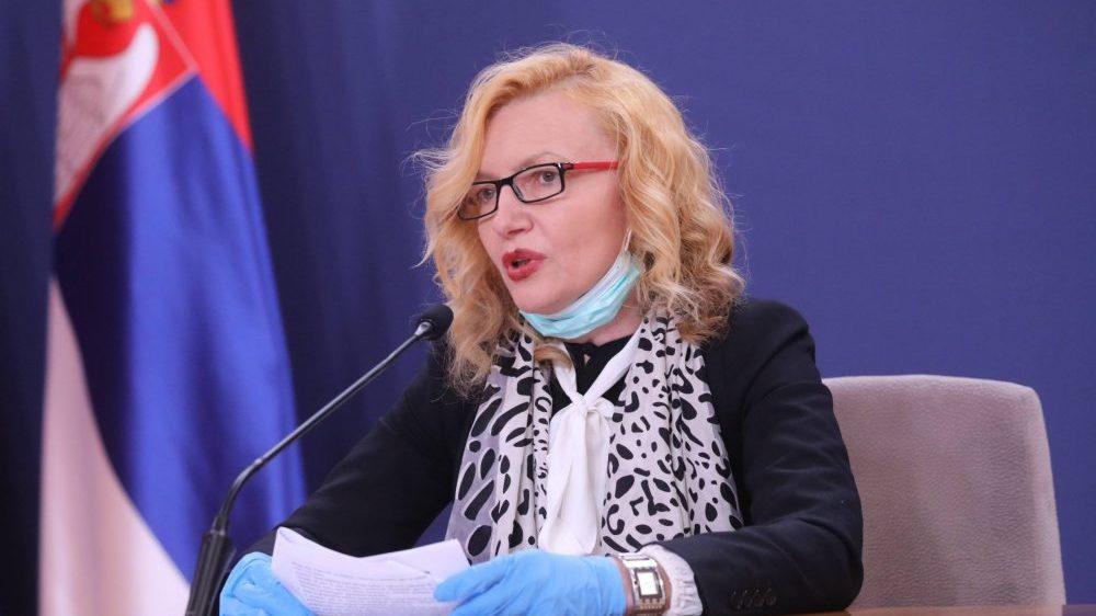Verica Jovanović: U Srbiji blagi rast broja zaraženih