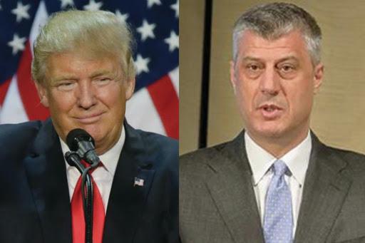Tači odlikuje Trampa Ordenom slobode za ulogu u postizanju dogovora Srbije i Kosova