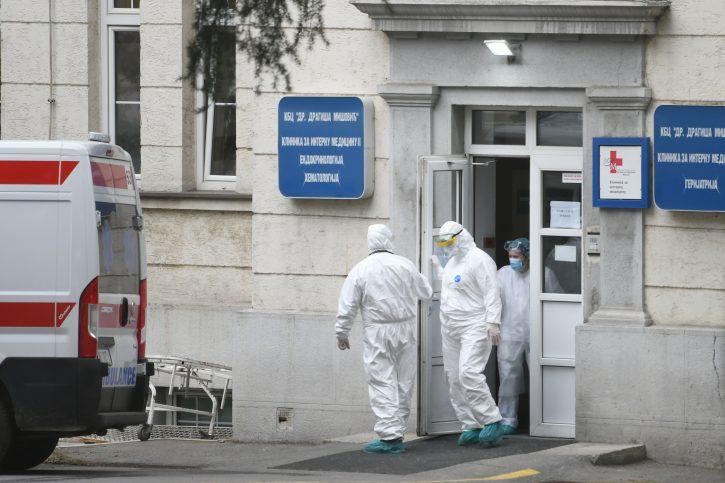"""U Kliničko-bolnički centar """" Dragiša Mišović""""  smešteno 158 pacijenata, 12 na respiratorima"""