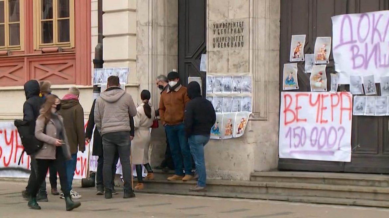 Studenti blokirali Rektorat