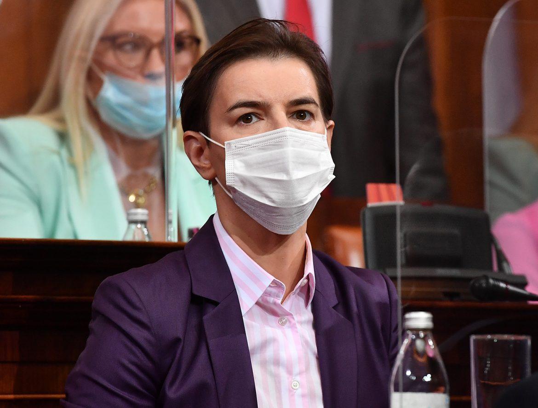 Ana Brnabić: Danas više od 2.000 zaraženih