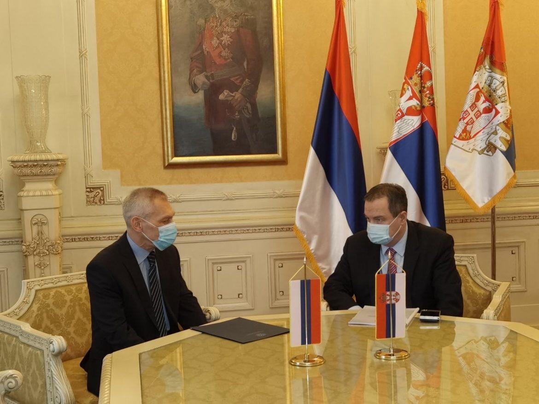 Dačić: Zahvalnost Rusiji za pomoć tokom pandemije