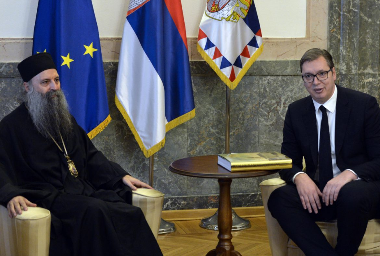 Vučić danas sa patrijarhom Porfirijem