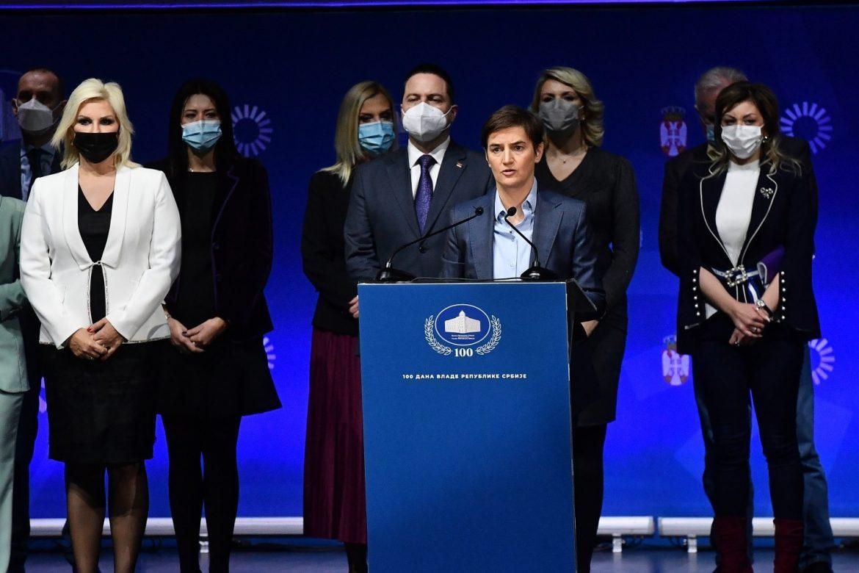 Brnabić povodom 100 dana vlade: Srbija jaka i bezbedna zemlja, nema zaštićenih