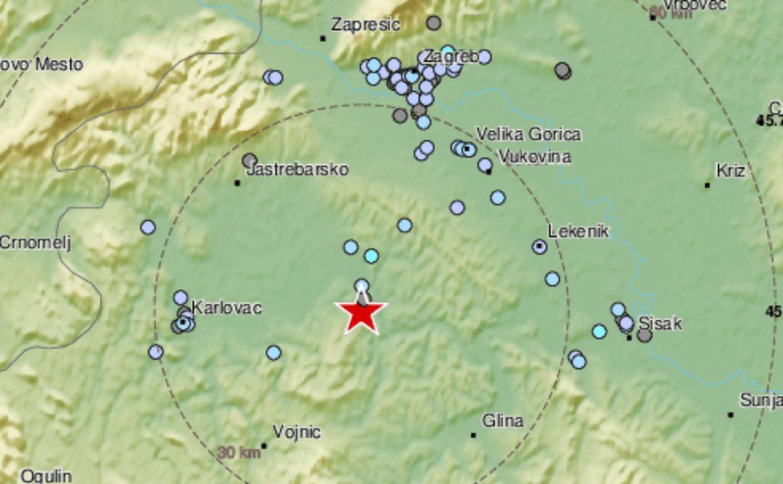 Novi, jak zemljotres kod Gline, osetio se i u Zagrebu