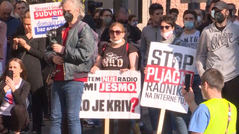 Protest dela frilensera: Želimo da živimo, a ne da preživljavamo