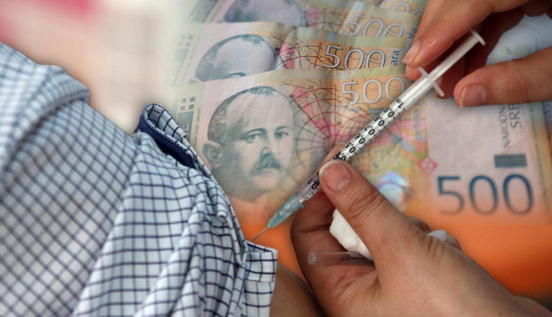 Još danas prijava vakcinisanih građana za 3.000 dinara