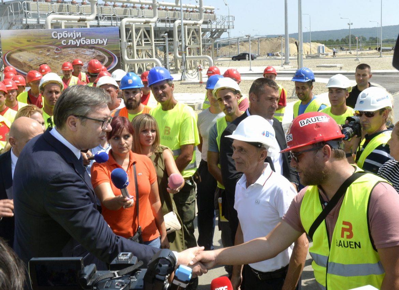 Vučić: Gasovod važna stvar za Srbiju