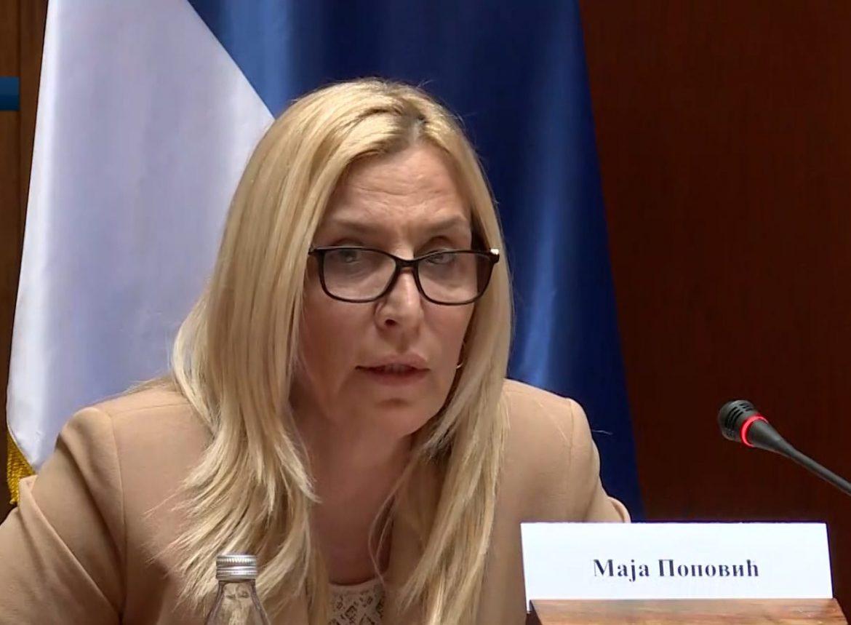 Ministarka pravde pozvala poslanike da podrže izbor Zagorke Dolovac
