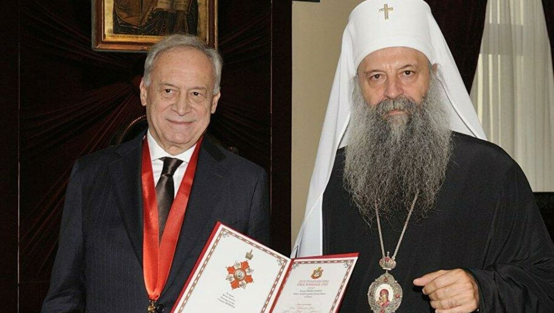 Patrijarh uručio Orden Svetog Save Miloradu Vučeliću
