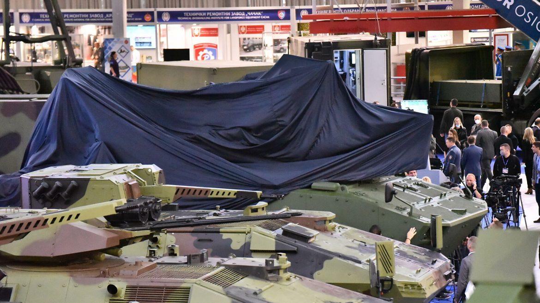 """Otvoren sajam naoružanja """"Partner 2021"""", predstavljeno borbeno vozilo """"Lazanski"""""""