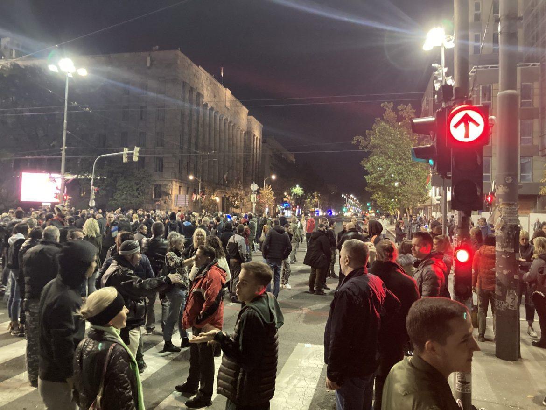 Protest u Beogradu zbog odluke o kovid propusnicama